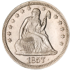 Seated Liberty Quarter 1838-1891